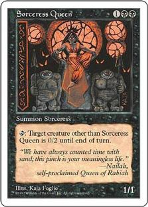 MtG 5th Edition Rare Sorceress Queen [Slightly Played Condition]