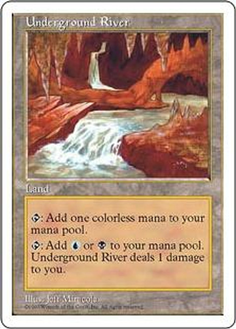 MtG 5th Edition Rare Underground River [Slightly Played Condition]