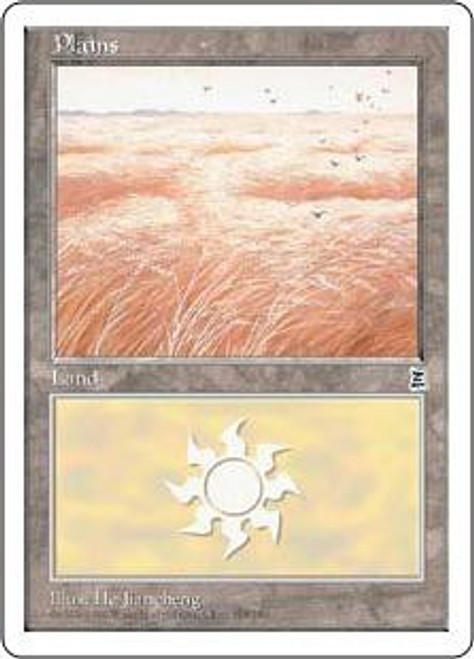 MtG Portal Three Kingdoms Basic Land Plains #166 [Random Artwork]