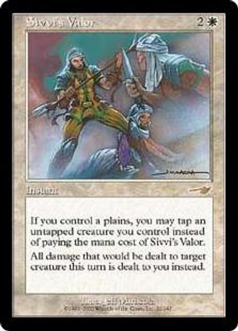 MtG Nemesis Rare Sivvi's Valor #22