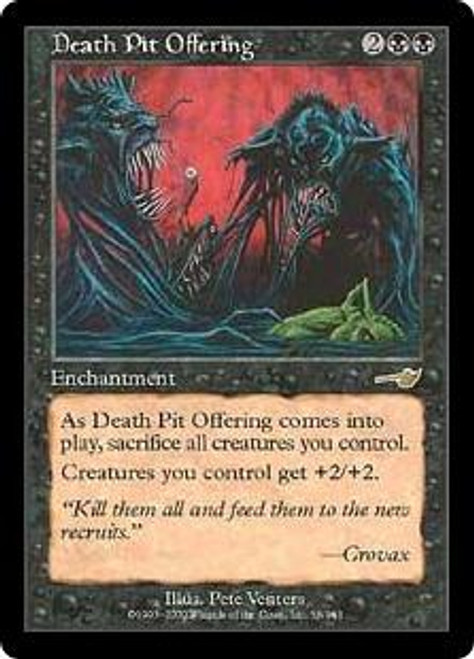 MtG Nemesis Rare Death Pit Offering #56