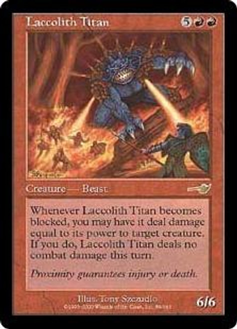 MtG Nemesis Rare Laccolith Titan #89 [Played Condition]