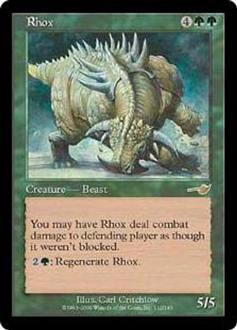 MtG Nemesis Rare Rhox #112