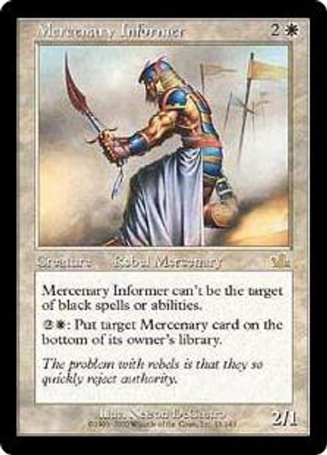 MtG Prophecy Rare Mercenary Informer #15