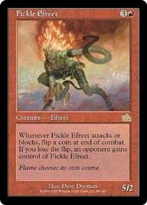 MtG Prophecy Rare Fickle Efreet #89 [Played Condition]