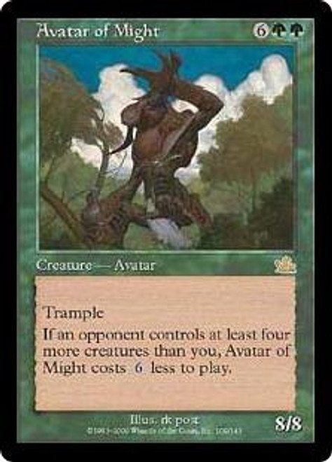 MtG Prophecy Rare Avatar of Might #109 [Played Condition]