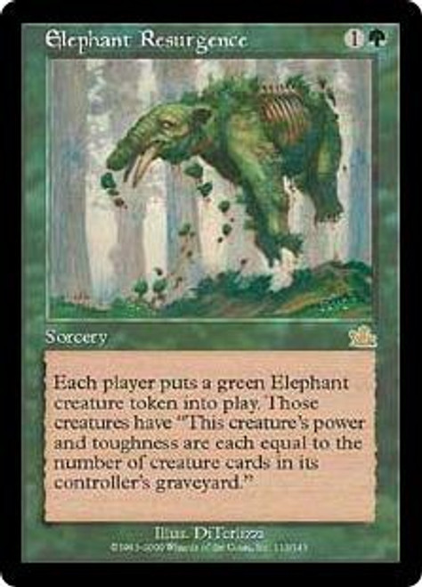 MtG Prophecy Rare Elephant Resurgence #113 [Played Condition]