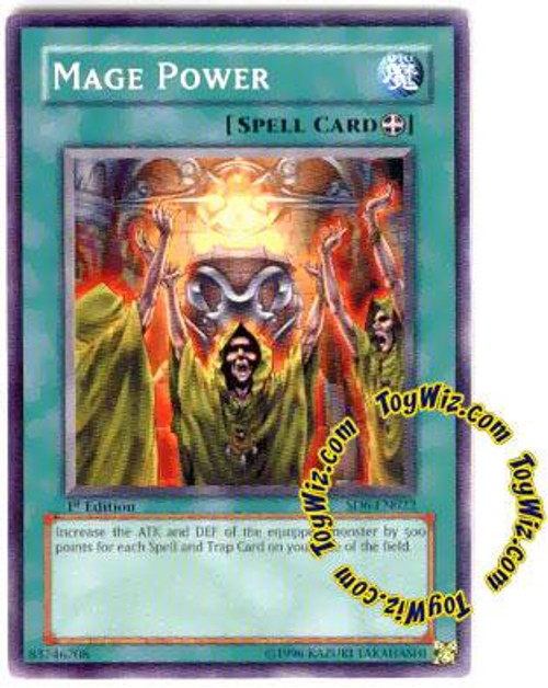 YuGiOh Structure Deck: Spellcaster's Judgment Common Mage Power SD6-EN022