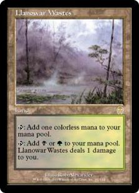 MtG Apocalypse Rare Llanowar Wastes #141