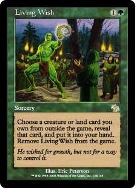 MtG Judgment Rare Living Wish #124