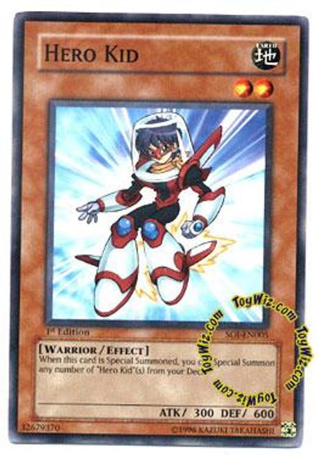 YuGiOh GX Shadow of Infinity Common Hero Kid SOI-EN005