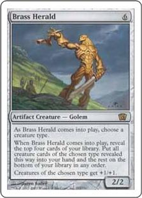 MtG 8th Edition Rare Brass Herald #293