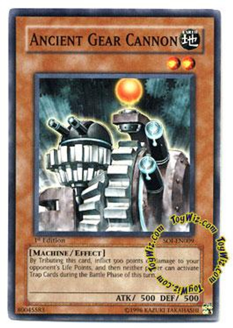 YuGiOh GX Shadow of Infinity Common Ancient Gear Cannon SOI-EN009