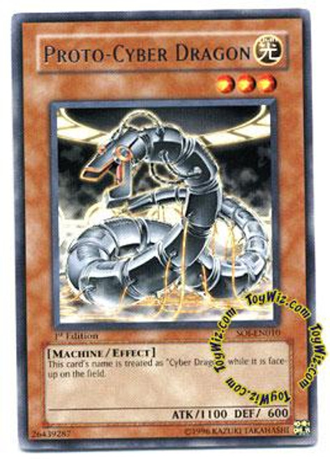 YuGiOh GX Shadow of Infinity Rare Proto - Cyber Dragon SOI-EN010