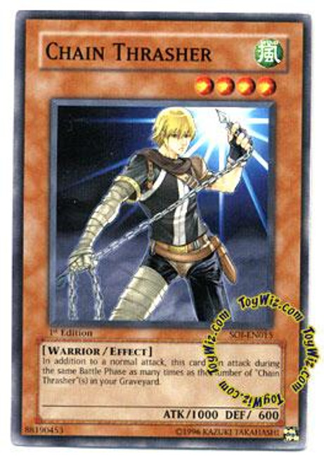 YuGiOh GX Shadow of Infinity Common Chain Thrasher SOI-EN015