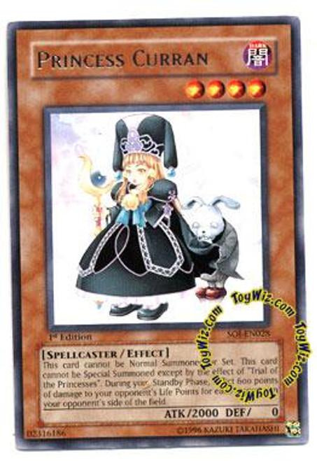 YuGiOh GX Shadow of Infinity Rare Princess Curran SOI-EN028