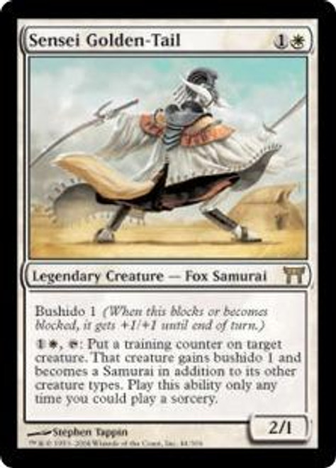 MtG Champions of Kamigawa Rare Sensei Golden-Tail #44