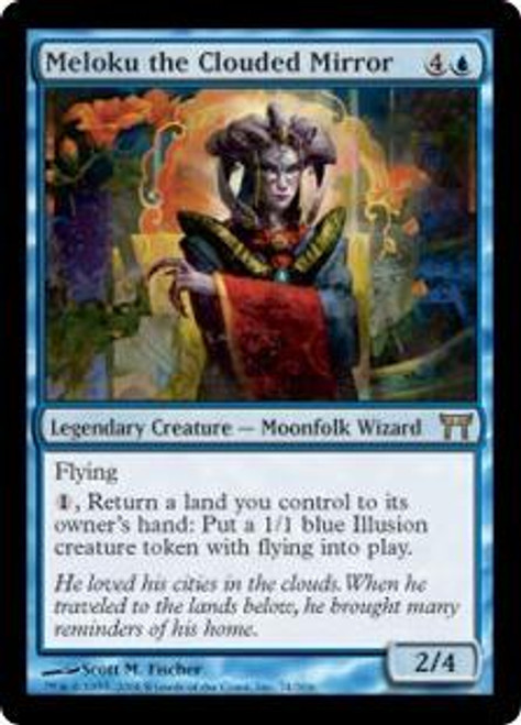 MtG Champions of Kamigawa Rare Meloku the Clouded Mirror #74