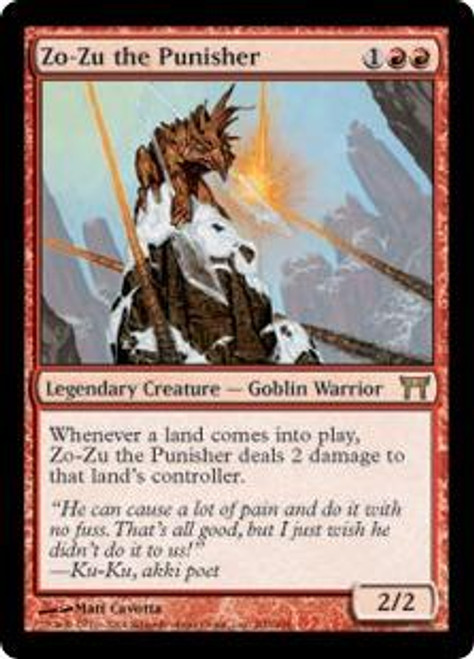 MtG Champions of Kamigawa Rare Zo-Zu the Punisher #200