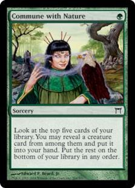 MtG Champions of Kamigawa Common Commune with Nature #204