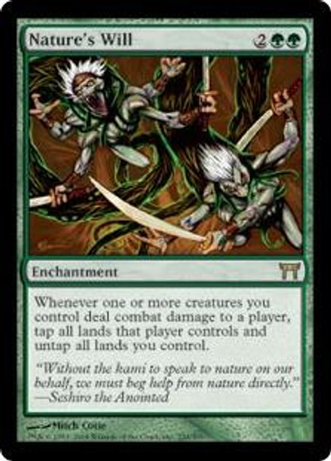 MtG Champions of Kamigawa Rare Nature's Will #230