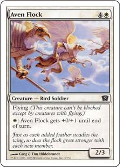 MtG 9th Edition Common Aven Flock #4