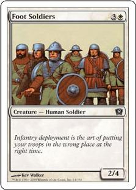 MtG 9th Edition Common Foot Soldiers #14