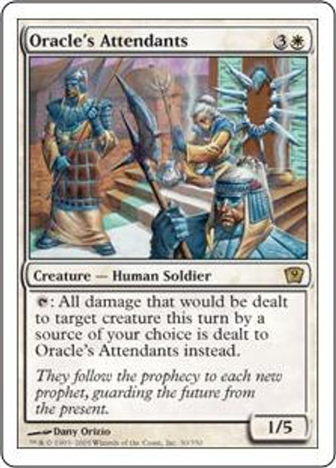 MtG 9th Edition Rare Oracle's Attendants #30