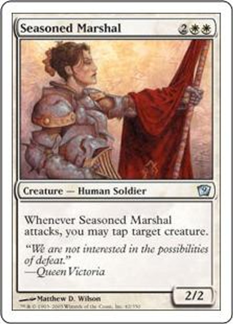 MtG 9th Edition Uncommon Seasoned Marshal #42