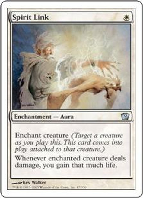 MtG 9th Edition Uncommon Spirit Link #47