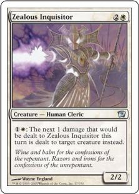 MtG 9th Edition Uncommon Zealous Inquisitor #57