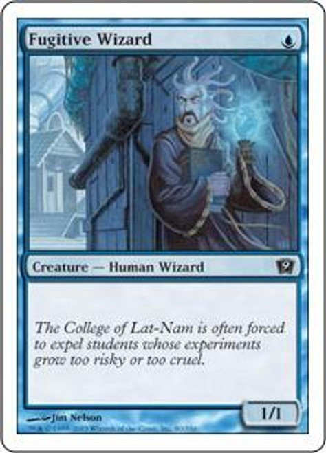 MtG 9th Edition Common Fugitive Wizard #80