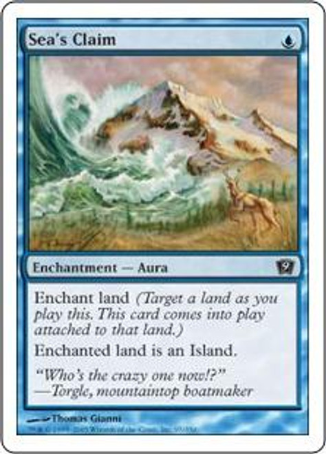 MtG 9th Edition Common Sea's Claim #97