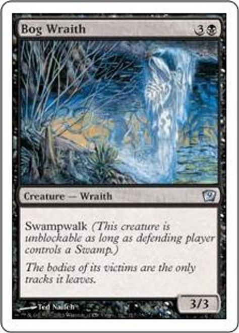 MtG 9th Edition Uncommon Bog Wraith #117