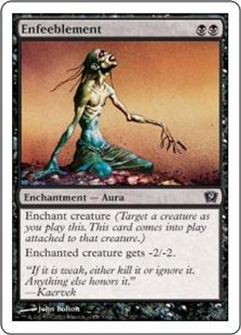 MtG 9th Edition Common Enfeeblement #127