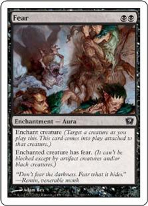 MtG 9th Edition Common Fear #129