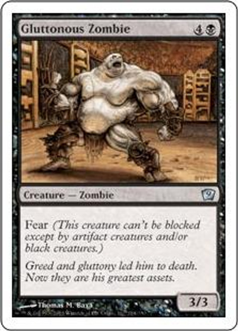 MtG 9th Edition Uncommon Gluttonous Zombie #134