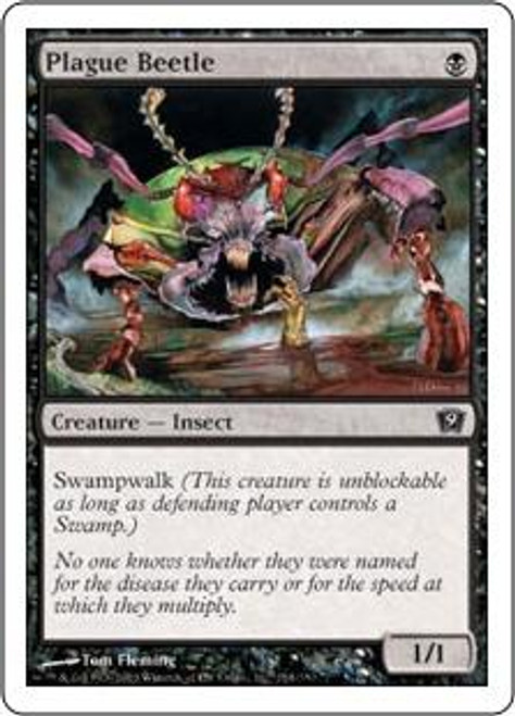 MtG 9th Edition Common Plague Beetle #154