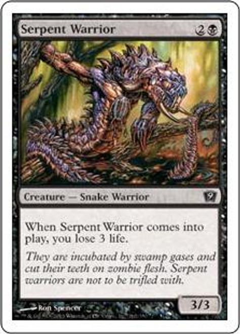 MtG 9th Edition Common Serpent Warrior #162