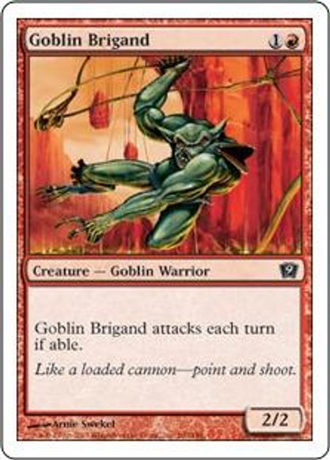 MtG 9th Edition Common Goblin Brigand #190