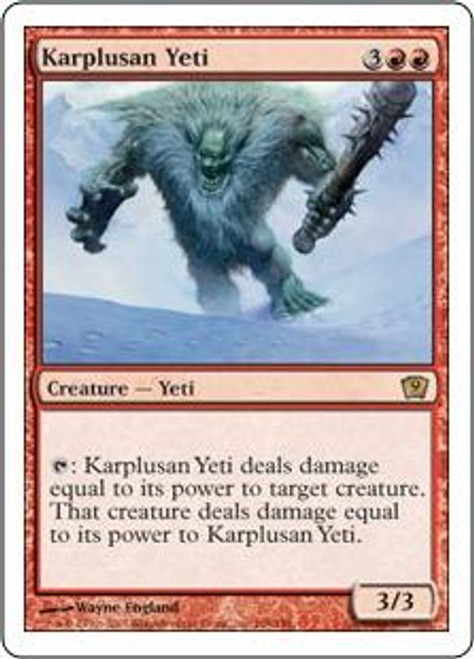 MtG 9th Edition Rare Karplusan Yeti #198