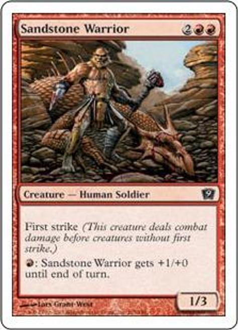 MtG 9th Edition Common Sandstone Warrior #215