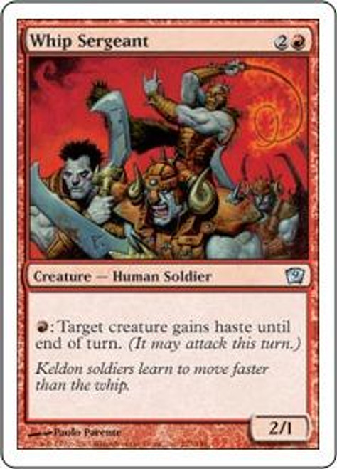 MtG 9th Edition Uncommon Whip Sergeant #227