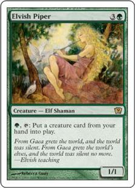MtG 9th Edition Rare Elvish Piper #239