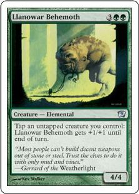 MtG 9th Edition Uncommon Llanowar Behemoth #252