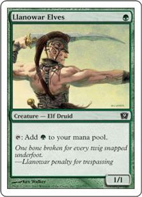 MtG 9th Edition Common Llanowar Elves #253
