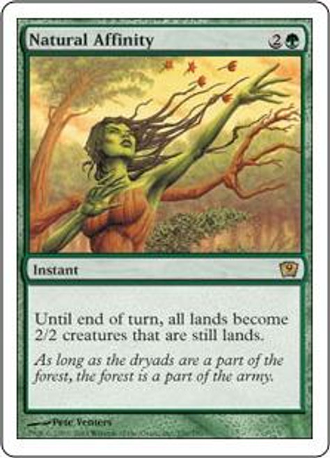 MtG 9th Edition Rare Natural Affinity #256