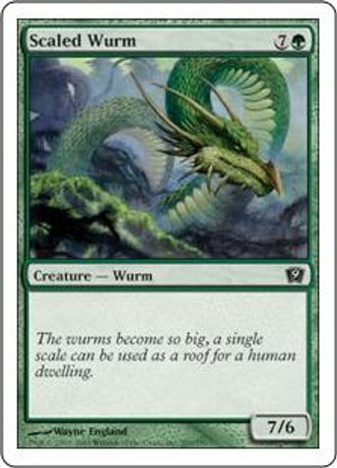 MtG 9th Edition Common Scaled Wurm #269