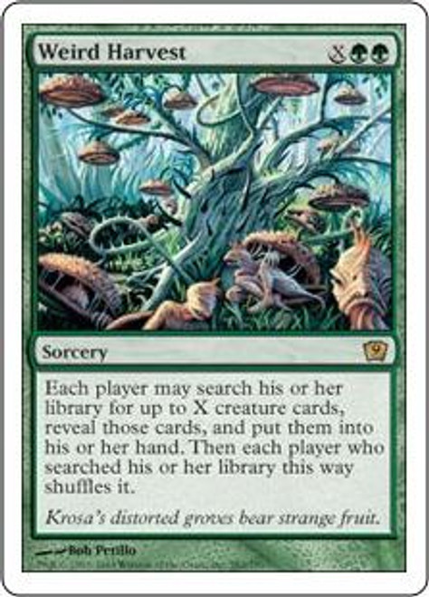 MtG 9th Edition Rare Weird Harvest #282