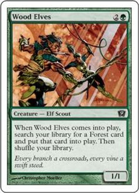 MtG 9th Edition Common Wood Elves #283